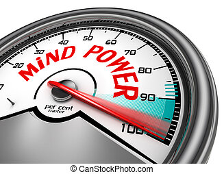 Mind power hundred per cent conceptual meter