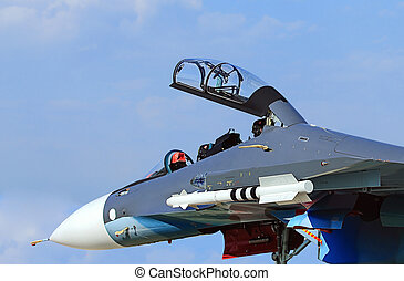 Front part of military jet