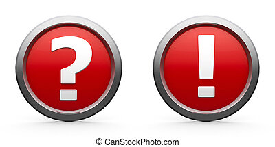 Icons question mark and exclamation point - Web buttons...