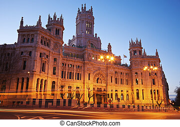 Palacio de Comunicaciones in Madrid - Sunrise by Palacio de...