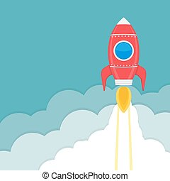 Rocket Launch - Rocket launch, business or project startup...