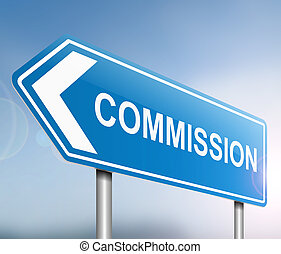 Commission concept - Illustration depicting a sign with a...