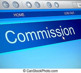 Commission concept - Illustration depicting a computer...