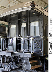 Pullman train of 1914 - Entrance of antique Pullman...