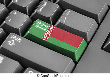 Enter button with Belarus Flag
