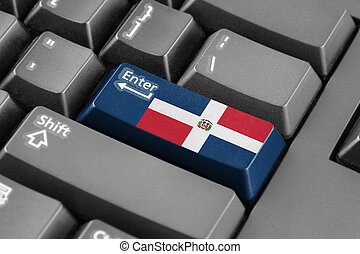 Enter button with Dominican Republic Flag