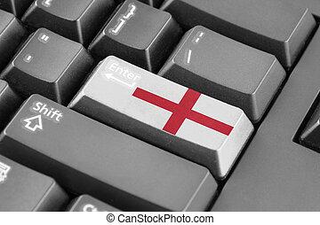 Enter button with England Flag