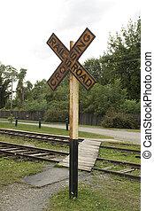 Vintage railroad crossing sign - Vintage rairoad crossing...