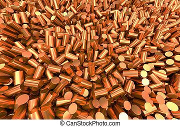 Copper granulate