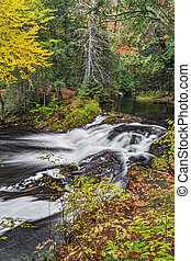 Jumbo Falls in Autumn - Michigan's western Upper Peninsula...