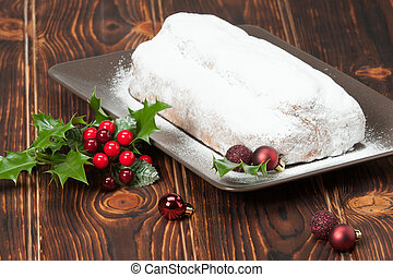 Stollen Traditional Christmas Marzipan Pie Decorations...