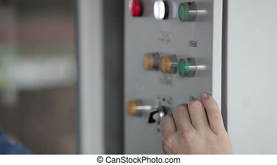 At The Elevator Operator at The Control Panel - The Car...