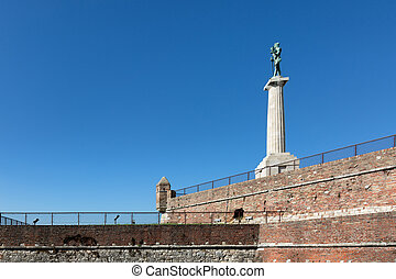 Belgrade Serbia Victor Monument on Kalemegdan Fortress