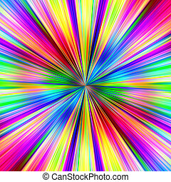 Bright multicolored explosion abstract illustration.