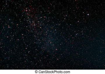 Nightsky over St Peter-Ording in Germany