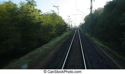 Railway journey POV - Train journey point of view