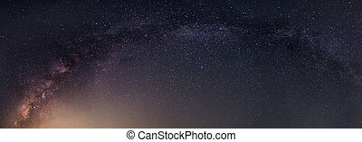 Panorama of milky way