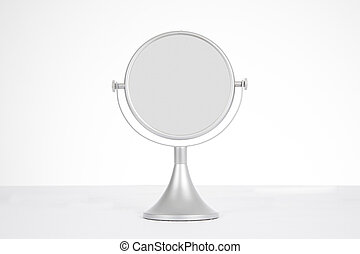 table mirror - grey silver circular mirror for women makeup...