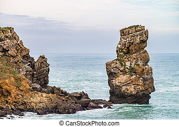 Nau dos Corvos in the Carvoeiro Cape, Peniche, Portugal
