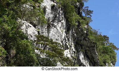 Geology Mining Limestone Mountain - Camera follows the peak...