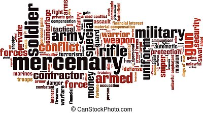 Mercenary [Converted].eps - Mercenary word cloud concept....