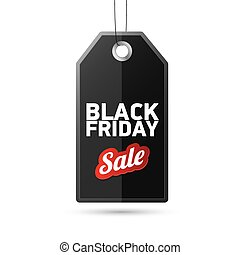 Black Friday sales tag. vector illustration - Black Friday...