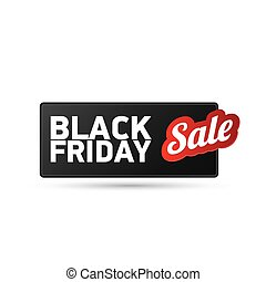 Black Friday sales tag vector illustration - Black Friday...