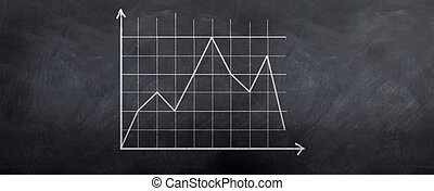 Stock Graph grid - A graph showing a stock in decline over...