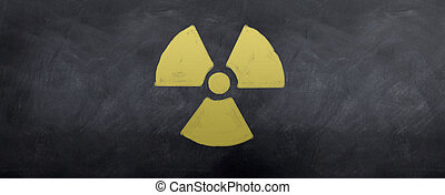 Nuclear Symbol - A sketched symbol for warning nuclear...