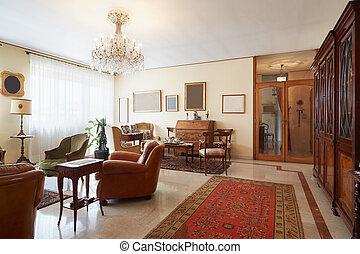 Living room, classic interior