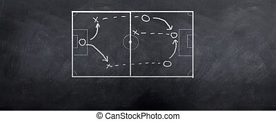 Soccer Offense - A socceer strategy board as the half time...