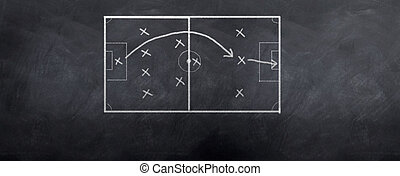 Soccer Goal Strategy - A socceer strategy board as the half...