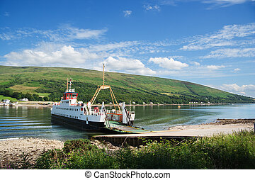 bute ferry - Car ferry on the Kyles of Bute, Scotland