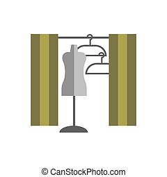 dressing room Studio on white background flat vector icon