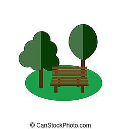 Park bench flat