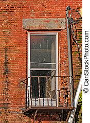 Door or Window on Old Building