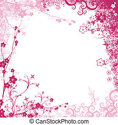 pink foliage isolated on white background
