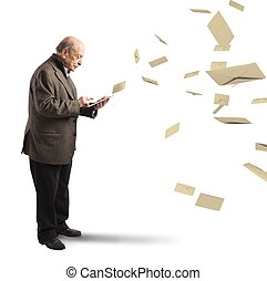 email, como, antigas, letters, ,