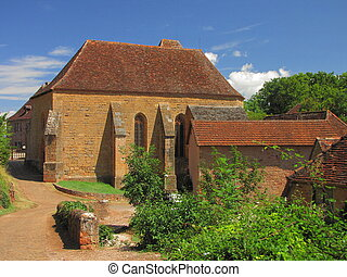 Church, village, Castelnau