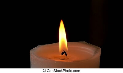 Candle flame, slow motion
