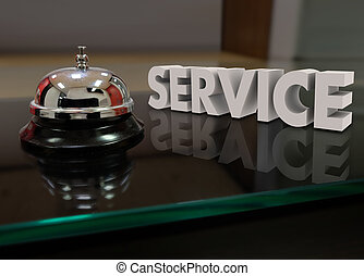 Service Bell Courtesy Assistance Customer Front Desk -...
