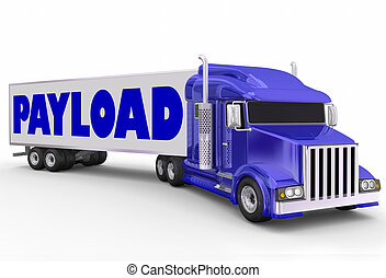 Payload Trailer Truck Shipment Hauling Delivery - Payload...