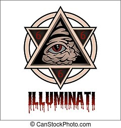 Illuminati - All seeing eye pyramid symbol