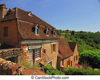Roof, house, - Valley of Dordogne ; Lot, Perigord, Quercy,...