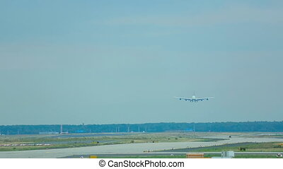 Superjumbo landing - FRANKFURT AM MAIN, GERMANY - SEPTEMBER...