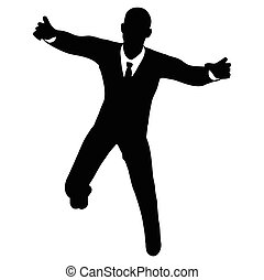 businessman silhouette - Vector Image - businessman...