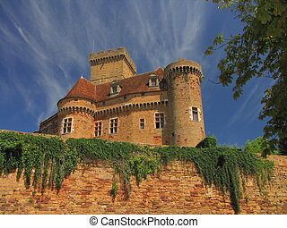 Castelnau Castle fortification, - Valley of Dordogne ; Lot,...