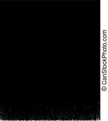 black brush stroke element on white