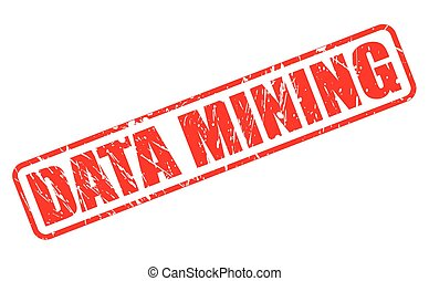DATA MINING red stamp text on white
