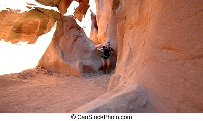 Hiking Peekaboo Slot Canyon